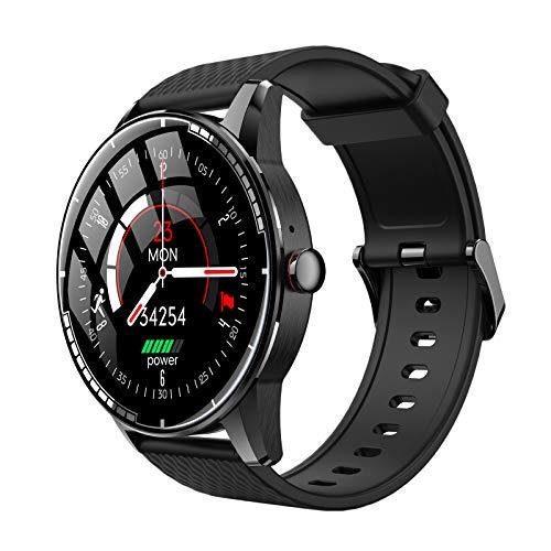 prasku Monitor del Sueño del Podómetro de La Prenda Impermeable del Smart Watch de Bluetooth para Android iOS - Negro