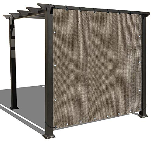Alion Home Sun Shade Panel Privacy Screen with Grommets on 4 Sides for Outdoor, Patio, Awning, Window Cover, Pergola (3' x 8', Walnut)