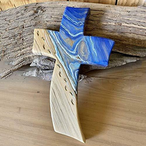Wollaston Croix en bois inspirée de divin faite à la main - Décoration de maison - Légère, divinely inspirée - Fabriquée à la main - Décoration d'intérieur