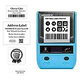 Android iOS Etichettatrice Portatile, 58mm Stampante per Etichette Bluetooth con Batteria Ricaricabile Stampante Termica Adesive Personalizzate per Alimentari, Gioielli, Codice a Barre, Promemoria