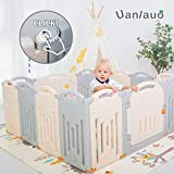 Best Baby Play Gates - Foldable Baby Playpen Kids Activity Centre Grey Review