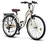 STELLA Bicicleta para Mujer, 26 Pulgadas Luz de Bicicleta Shimano 21 Marchas Ciclismo Nia Mujer Nia Infantil Florencia Amsterdam Bicicleta Hollanda Retro Bicicleta Infantil Bicicleta