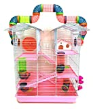 5 Level Large Cross Twin Towner Tube Tunnel Habitat Hamster Rodent Gerbil Mouse Mice Rat Cage