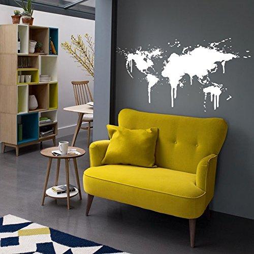 loQuenn Home Decoration Vinyl Wall Sticker Decals Mural Art Olanda mulini a Vento e Tulipani Verde World Map