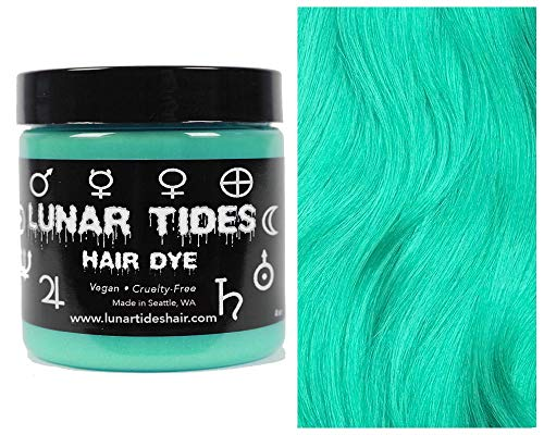 Lunar Tides Hair Dye - Beetle Pastel Mint Green Semi-Permanent Vegan Hair Color (4 fl oz / 118 ml)
