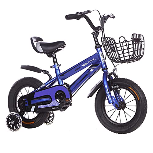 LFFME Regalos De Bicicleta para Niños para Niños Y Niñas 12/14/16/18/20 Pulgadas Carrito para Niños De Altura Ajustable 3-12 Años,B,16
