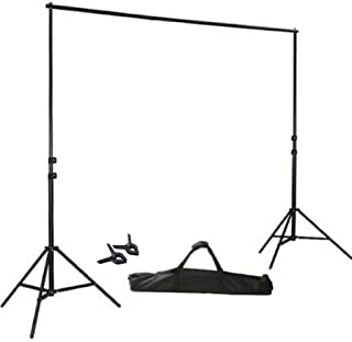 BalsaCircle 8 ft x 10 ft Photo Video Studio Adjustable Backdrop Stand Kit Background Support System Wedding Photography + Free Clips