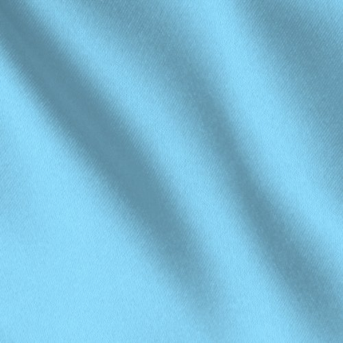"""Satin Fabric 60"""" Inch Wide- for Weddings, Decor, Gowns, Sheets, Costumes, Dresses, Etc (Baby Blue, 5 Yards)"""