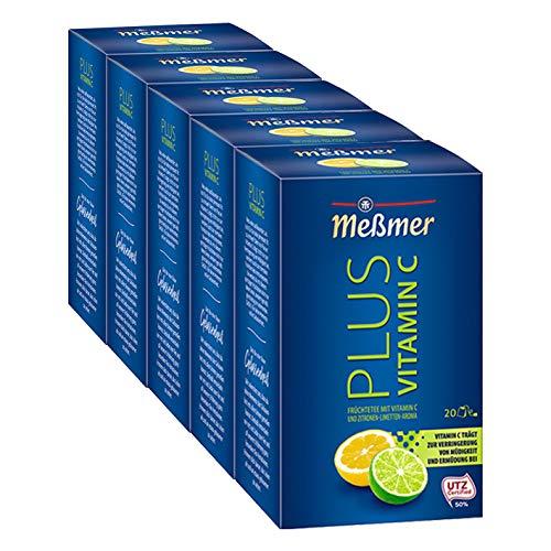 Meßmer PLUS Vitamin C Zitrone-Limette, 5er Pack