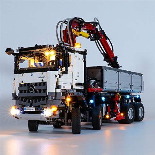 dataoeryingshiwenhuachuanmei LED Licht Set für Lego Technic Mercedes-Benz Arocs 3245 42043, USB betriebenes Kleines Teilchen Konstruktions Baustein Montage Spielzeug Kit (LED Licht Enthalten Nur)