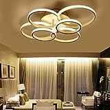 ONLT Plafoniera LED da soffitto,Super-sottile cerchio Soffitto moderni lampadari di luce Luce per soggiorno,sala da pranzo (Bianco caldo, 6 Teste)