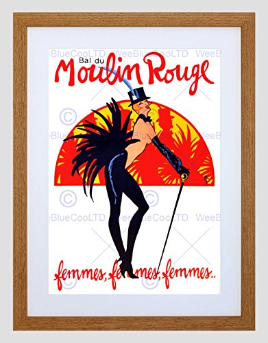 Wee Blue Coo Theater Stage Burlesque Moulin Rouge Ball Dance Venue Parijs Omlijst Muur Art Print