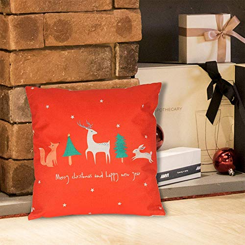 hodmadod HomeSailing 1 PCS Christmas Series Throw Pillow Case Cover 18 X 18 Inches Square Occasional Pillowcase Decorative Cushion Covers for Kids Room Sofa Bed Office Party 16X16in