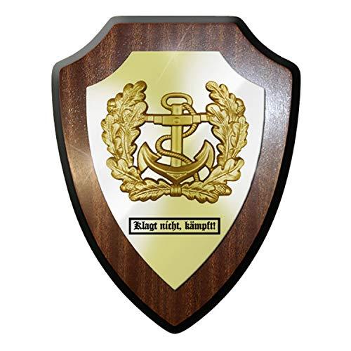 Wappenschild - Klagt nicht, kämpft! Marine Anker Mützenkranz Bundeswehr - #11767