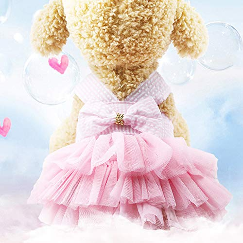 LPxdywlk Verano Mascota Perro Princesa Correa Falda Cachorro Boda Cumpleaños Fiesta Ropa Vestido Ropa Traje Rosado XXL