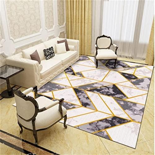 Alfombras Oficina Alfombras Que Se Pueden Fregar Los corredores de pasillo de alfombra de juego para niños con diseño de triángulo verde blanco gris amarillo son seguros, respetuosos con el medio ambi
