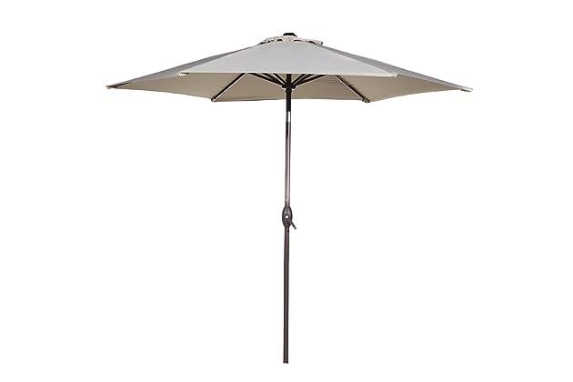 Abba Patio Outdoor Patio Umbrella 9 Feet Aluminum Market Table Umbrella  With Push Button Tilt And Crank, Beige