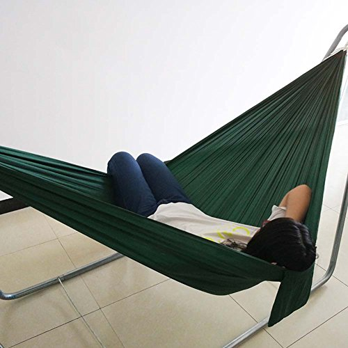 QAZSE hamac en Toile de Parachute Double Simple Camping extérieur Tourisme et Loisirs, 250 cm x 140 cm, 250CM*140CM-J