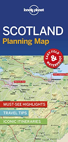 Lonely Planet Scotland Planning Map [Lingua Inglese]