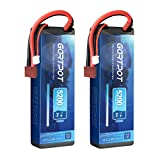 GARTPOT 2S Lipo Akku 5200mAh 80C 7,4V RC LiPo Battery Hardcase Pack con Deans Plug pour RC Car Evader Bx Auto LKW Truck Truggy RC Truck RC Evader Boat Buggy RC Hobby (2 Paquetes)