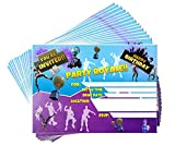 15 Video Game Birthday Party Invitations with Envelopes   Kids Birthday Invitations   Video Game Party Supplies   Birthday Invitations for Boys   Gamer Party Supplies   Birthday Party Invitations