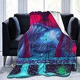 MODORSAN Manta de Tiro de Hongo Ligera Super Suave y cómoda Micro 50'x40' Manta de Lana borrosa Manta Decorativa Manta Ligera y acogedora para sofá Cama
