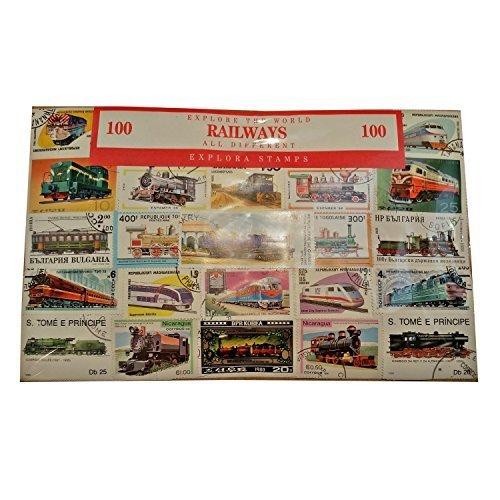 Explora Colección de Transporte ferroviario de 100 Sellos