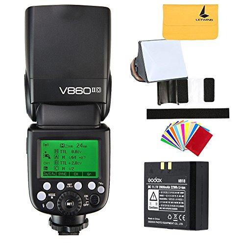 Godox V860II-O 2.4G GN60 inalambrico TTL HSS 1/8000s Bateria Lion Camara Flash Speedlite para Olympus E-M10II E-M5II E-M1 E-PL8 E-PL7E-PL3 PEN-F Camara y Panasonic DMC-CX85 DMC-G7 Camara (V860II-O)