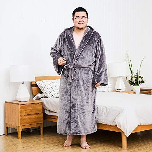 KTUCN Extra große Flanell-Bademäntel für Herren für den Winter, für fette...