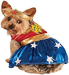 Wonder Woman superhero costume for dogs
