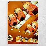 AZTeam Lámparas Pinturas sobre Lienzo Arte De La Pared Carteles E Impresiones Imágenes Pintura En Lienzo para La Decoración De La Pared del Hogar -50X70Cm Sin Marco