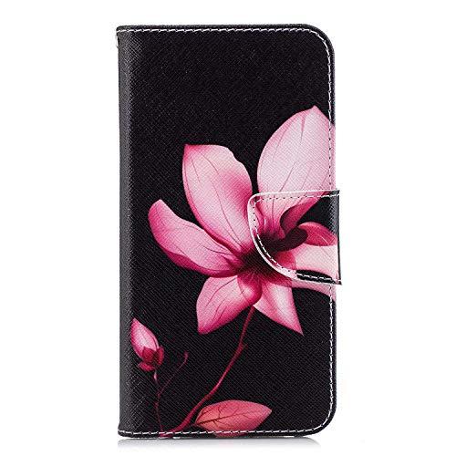 GIMTON Hülle für Huawei P20 Lite, Schlagfestes PU Handyhülle mit Dünn und Flexibles TPU, Hochwertige Bookstyle Stil Schutzhülle für Huawei P20 Lite, Muster 5