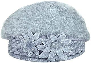 USport 1Pc Winter Warm Cap Women Knitting Crochet Beret Hat(Grey)
