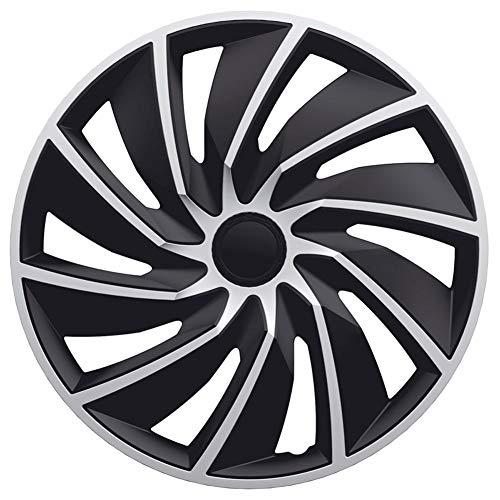 Jeu d'enjoliveurs Turbo 14-inch argent/noir