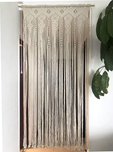 "Hysunland Macrame Doorway Curtains/Bohemian Room Divider/Handmade Door String Curtain for Bedroom Kitchen/Birthday, Party,Wedding Backdrop, 35.4"" W x 78.7"" H"