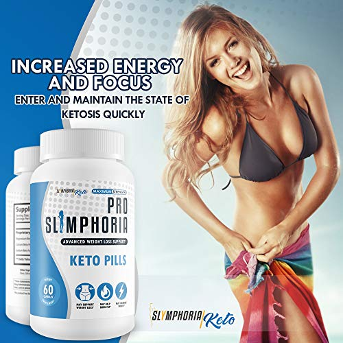 Pro Slimphoria Keto Pills - Advanced Weight Loss Support - Burn More Fat - Lose More Weight - Faster Ketosis with Slimphoria Keto Capsules -Slimphoria Keto with BHB - Slimphoria Pills 6