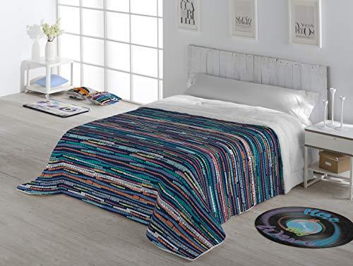 Stilia Edredón Microlina Con Tejido Borreguillo Interior Suave, Touber (Cama 135Cm (235C260Cm), Multicolor, 235 X 260 Cm
