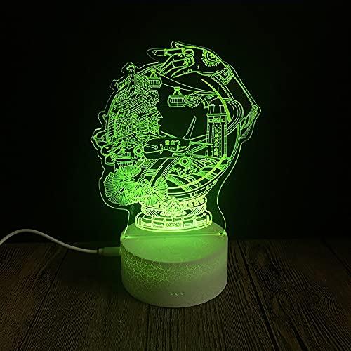 Yyhmkb Altavoz Bluetooth Con Led Cuadrada Reloj Infantil Niña Faro Cinta Base Agrietada Luz De Noche Colorida Decoración Del Hogar Lámpara De Regalo De Vacaciones Lámpara De Cabecera