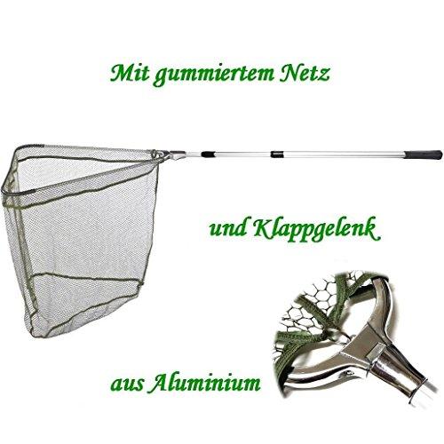 Balzer Kescher - Unterfangkescher Alu 3,00m 3-TLG 60 x 60cm Netz gummiert
