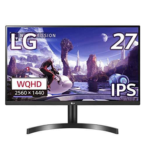 LG モニター ディスプレイ 27QN600-B 27インチ/WQHD(2560×1440)/IPS非光沢/HDR対応/FreeSync/HDMI×2、DP/フ...