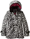 Rothschild Girls Baby Doll Peacoat Jacket with Faux Fur Collar - Tonal Zebra (Size 6X)
