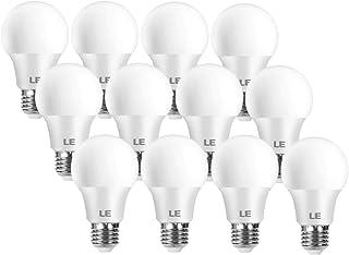 LE Bombilla LED E27, lámpara LED de 8,5 W y 806 lúmenes, Reemplaza la lámpara de 60 W, Blanco cálido 2700 K, lámpara de ahorro de energía de haz de 180 °, Paquete de 12