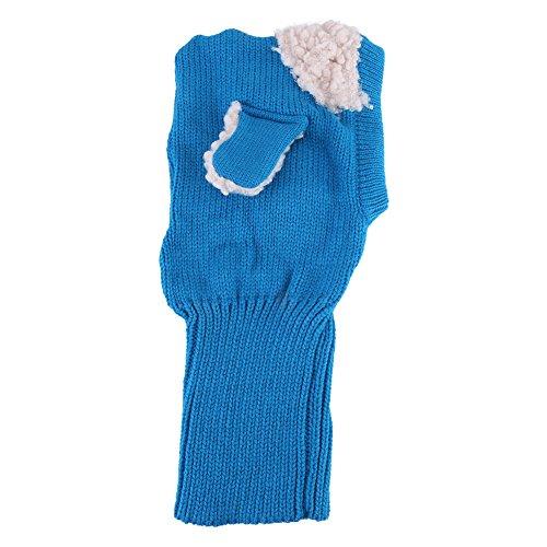 Baby wintermuts hondenstijl comfortabele winter baby muts en sjaal joint gebreide mutsen voor kleine kinderen jongens meisjes blauw