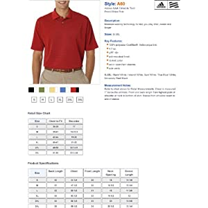 adidas A60 Men's Climalite Tech Pencil Stripe Golf Shirt