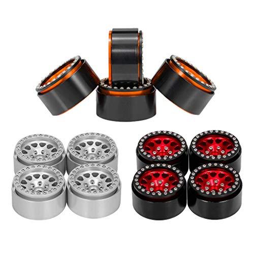 LIZONGFQ 12 Piezas de Repuesto de Llantas de Ruedas Beadlock de 1,9 Pulgadas para HPI HSP Redcat RC Car 1/10