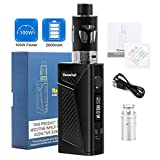 E Cigarette Starter Kit, YumaPuff Falcon 100W Vape Box Mod kit, Rechargeable 2000mAh