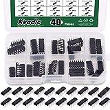 Keadic 40Pcs 20 Types (20pcs 74HCxx+20pcs 74LSxx) Series Logic IC Assortment Kit, 74HCxx Series Shift Output Registers IC Chip & 74LSx series IC Chip Kit with Container & Label