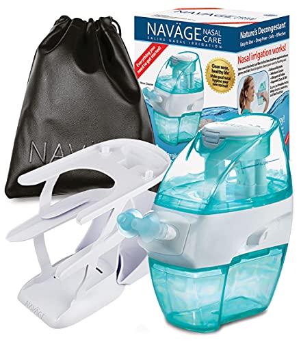 Navage Nasal Care DELUXE Bundle: Navage Nose Cleaner, 20 SaltPods,...