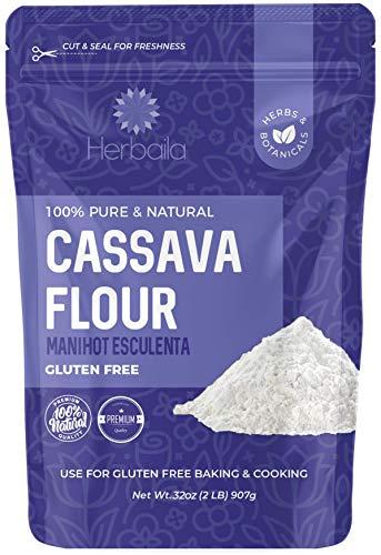 Cassava Flour 2lbs, Gluten Free Flour, Made from 100% yuca root, Great for Cassava Chips, Cake Flour for Baking, Cassava Flour Tortillas, Non-GMO, Vegan.