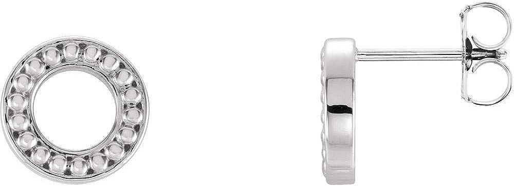 Beaded Stud Earrings Small (9.1mm x 9.1mm)